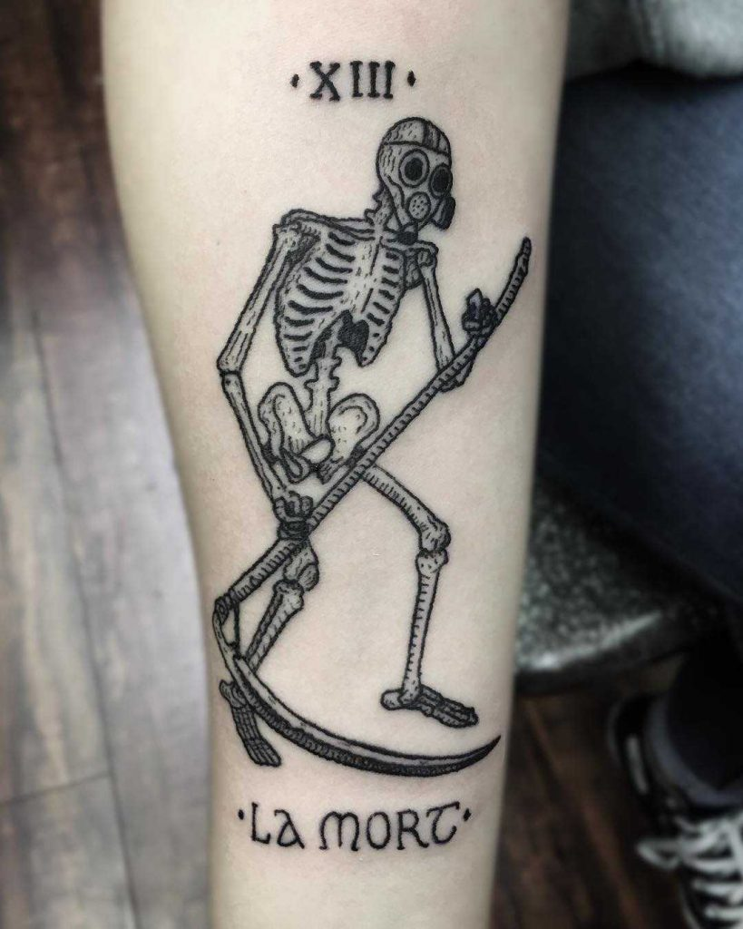 Tatuaje de la carta del tarot de la muerte por Sean Gallagher